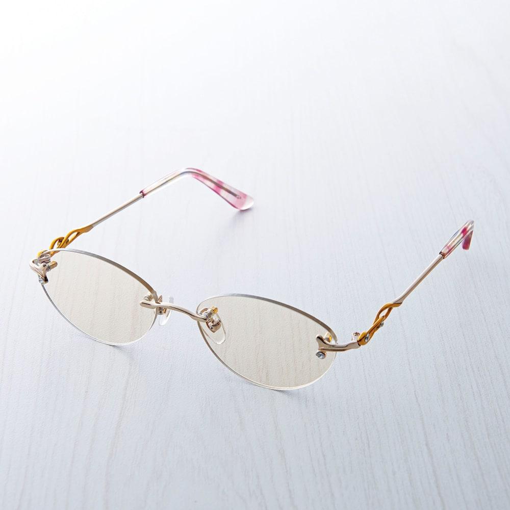 累進多焦点レンズアクティブファッションシニアグラス レディース クリア 1.0~4.5 サングラス・眼鏡