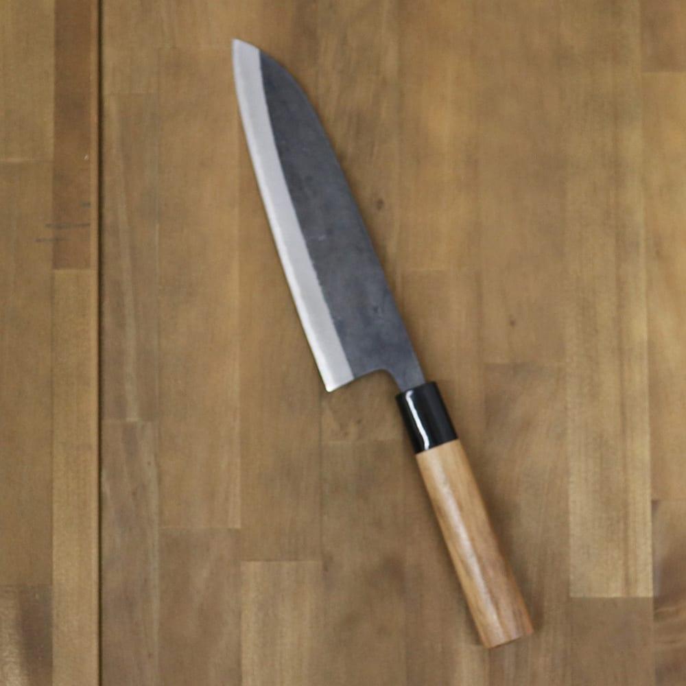 キッチン 家電 鍋 調理器具 包丁 ナイフ スライサー類 黒打ち三徳165青紙2号胡桃 WJ0636