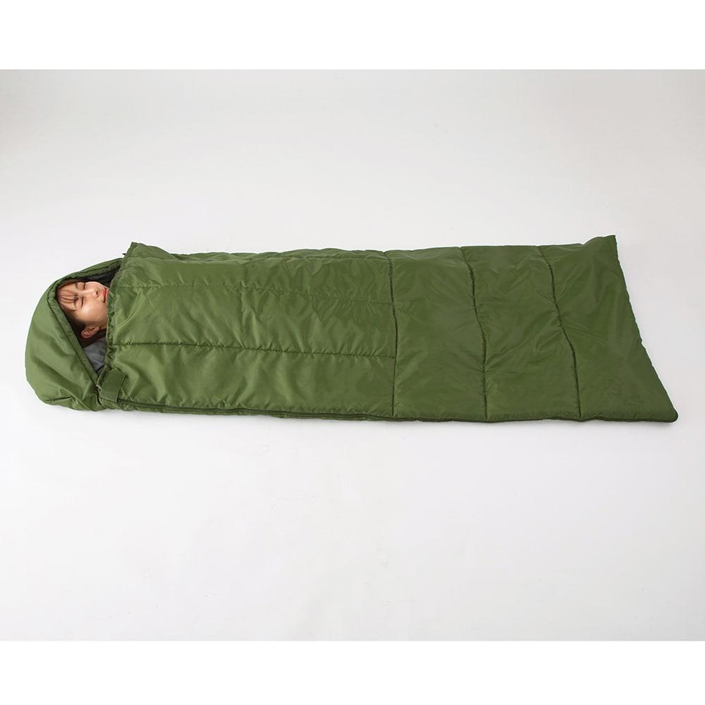 クッション型多機能寝袋SONAENO フード付きでしっかり顔が隠せる(遮光や飛沫対策としても)