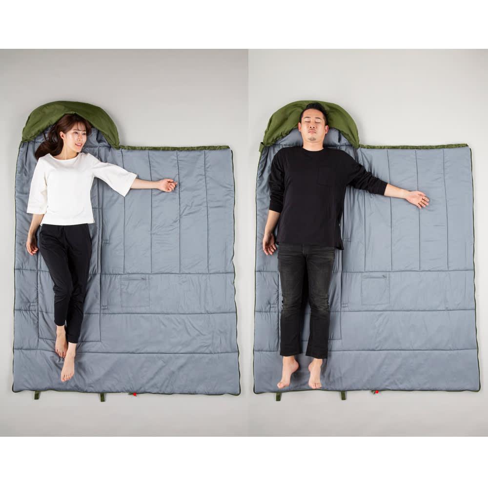 クッション型多機能寝袋SONAENO 全長約200cmで性別問わず使えるゆったりサイズ