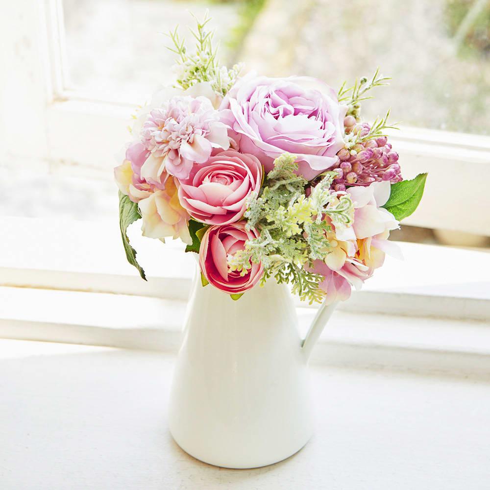 PRIMAメルシーブーケ ピンク 花瓶に入れるだけで簡単に楽しめます ※花器は商品に含まれません