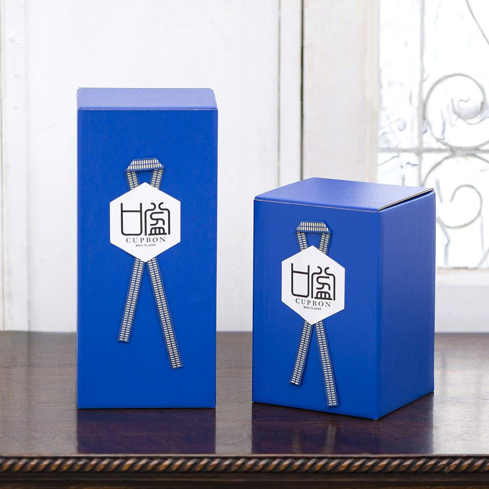 【CUPBON】 しのぶ 商品のサイズに合った箱にお入れしてお届けします。