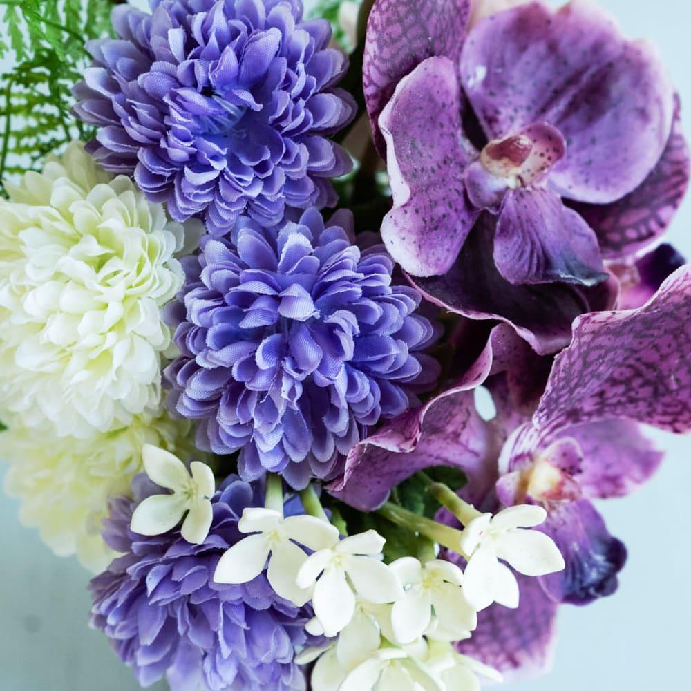 PRIMAタッセル付供花ホワイトパープル