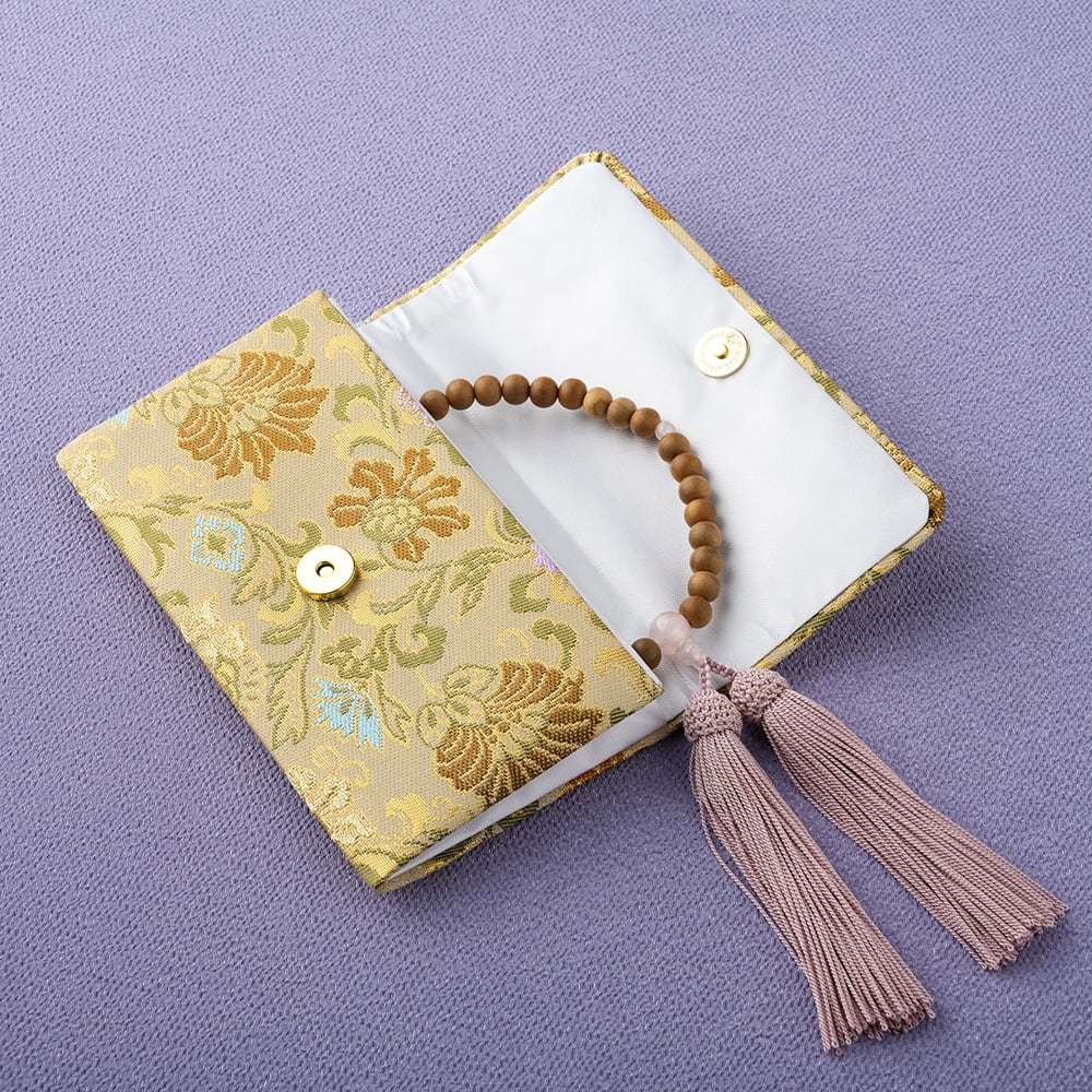 西陣織の念珠袋