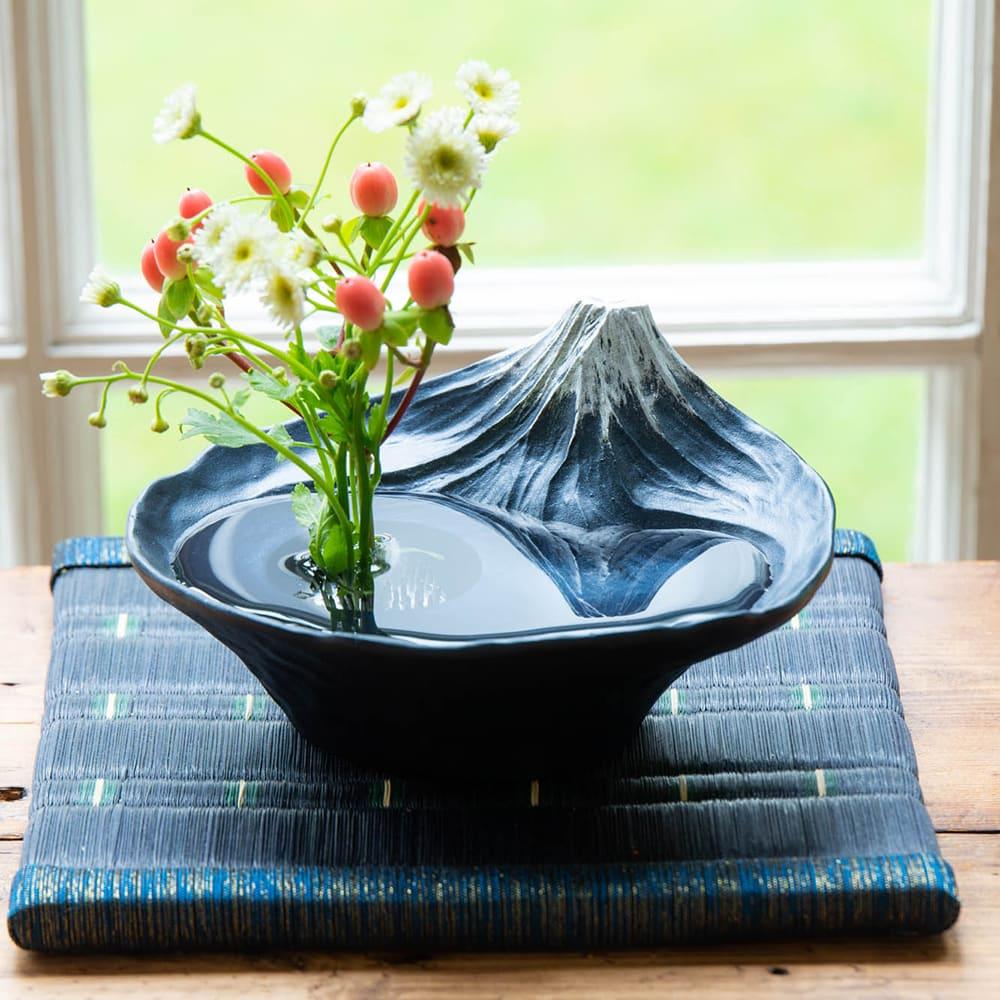 雫影 水盤「さかさ富士」 実ものでも可愛らしい!