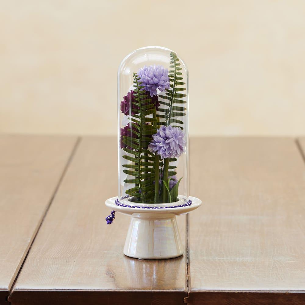 ガラスドームの供花 コチョウラン 裏側