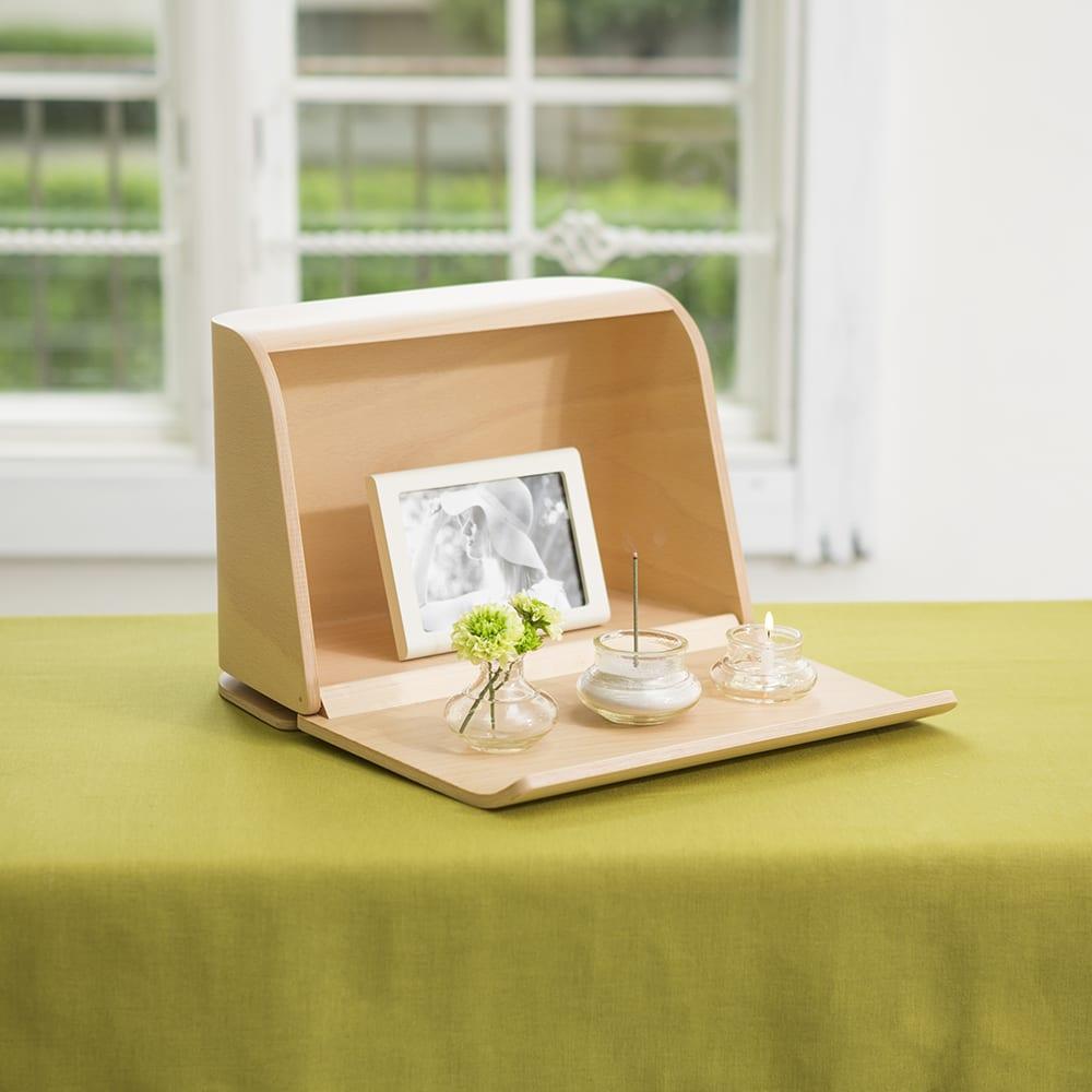 やさしい時間 祈りの手箱 ブラウン/ナチュラル 仏壇仏具
