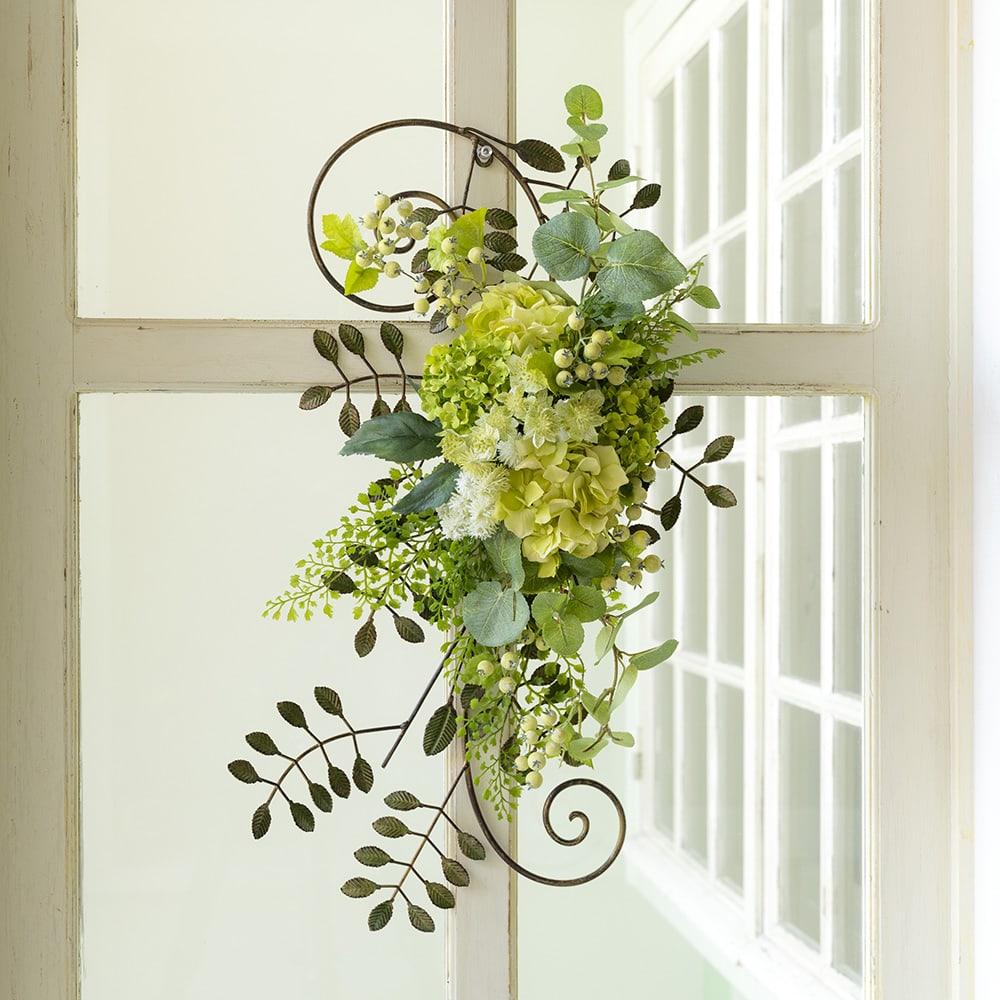 グリーンフラワーのアイアンフレーム アイアンフレームのグリーン系の花材をまとめました