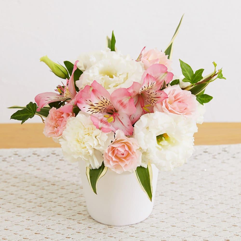 ガーデニング フラワー 花 仏花 生花お供えアレンジメント「やすらぎ」 FN7861