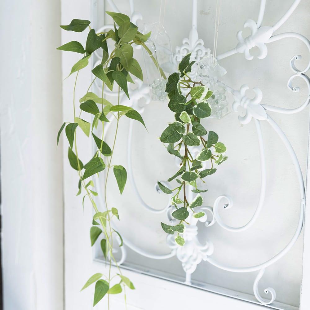 バードハウス グリーン2個セット アーティフィシャルグリーンをバードハウスを模した花器に入れて涼やかに