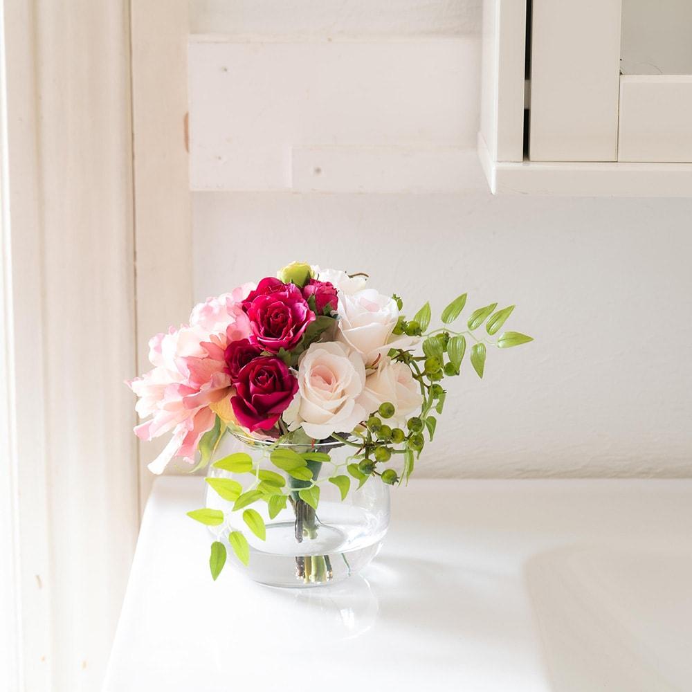 ローズマジックウォーターアレンジメント お部屋をパッと明るい雰囲気に! (ア)ピンク系