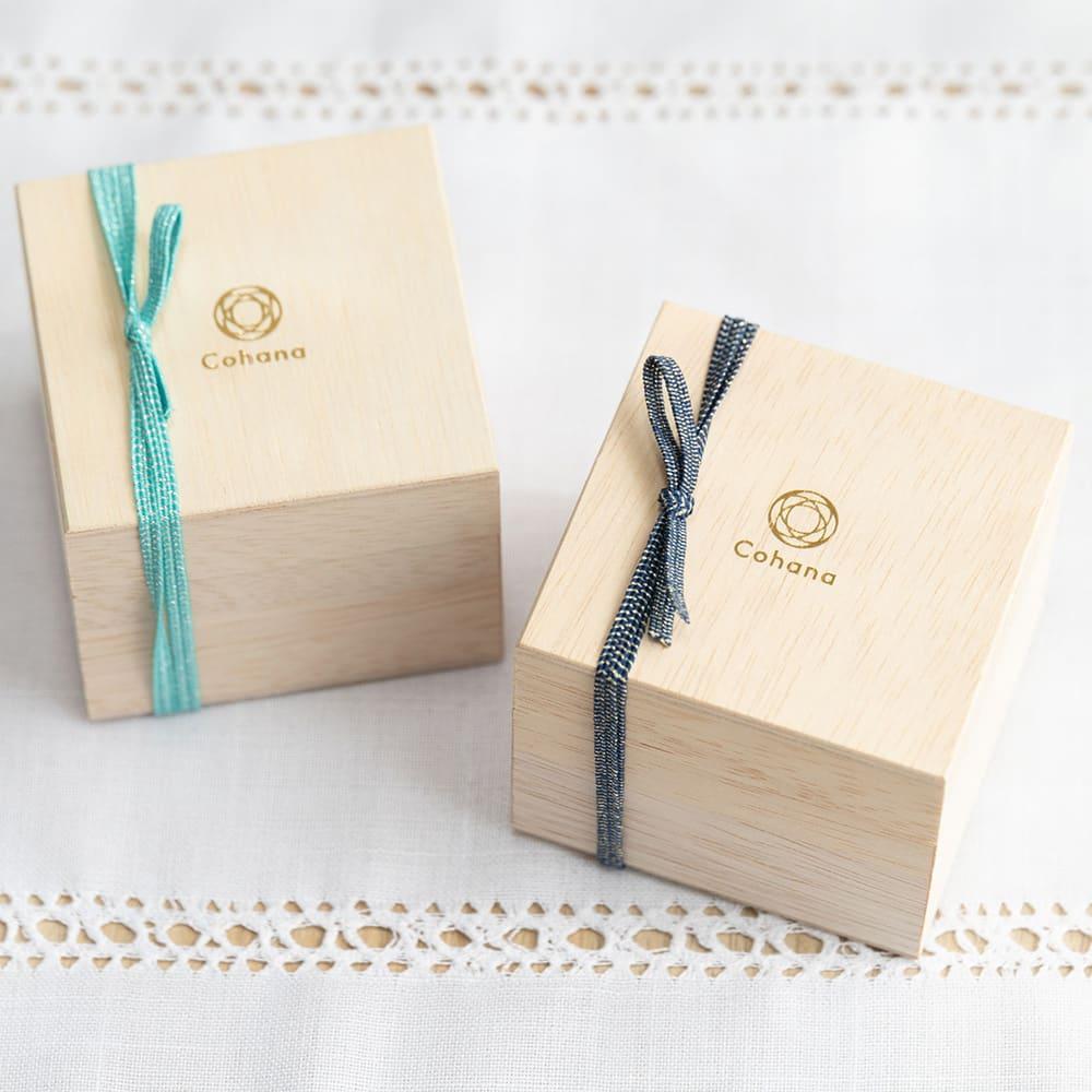 Cohana 小樽切子のピンクッション 木箱に入ってお届けします。ギフトにも!