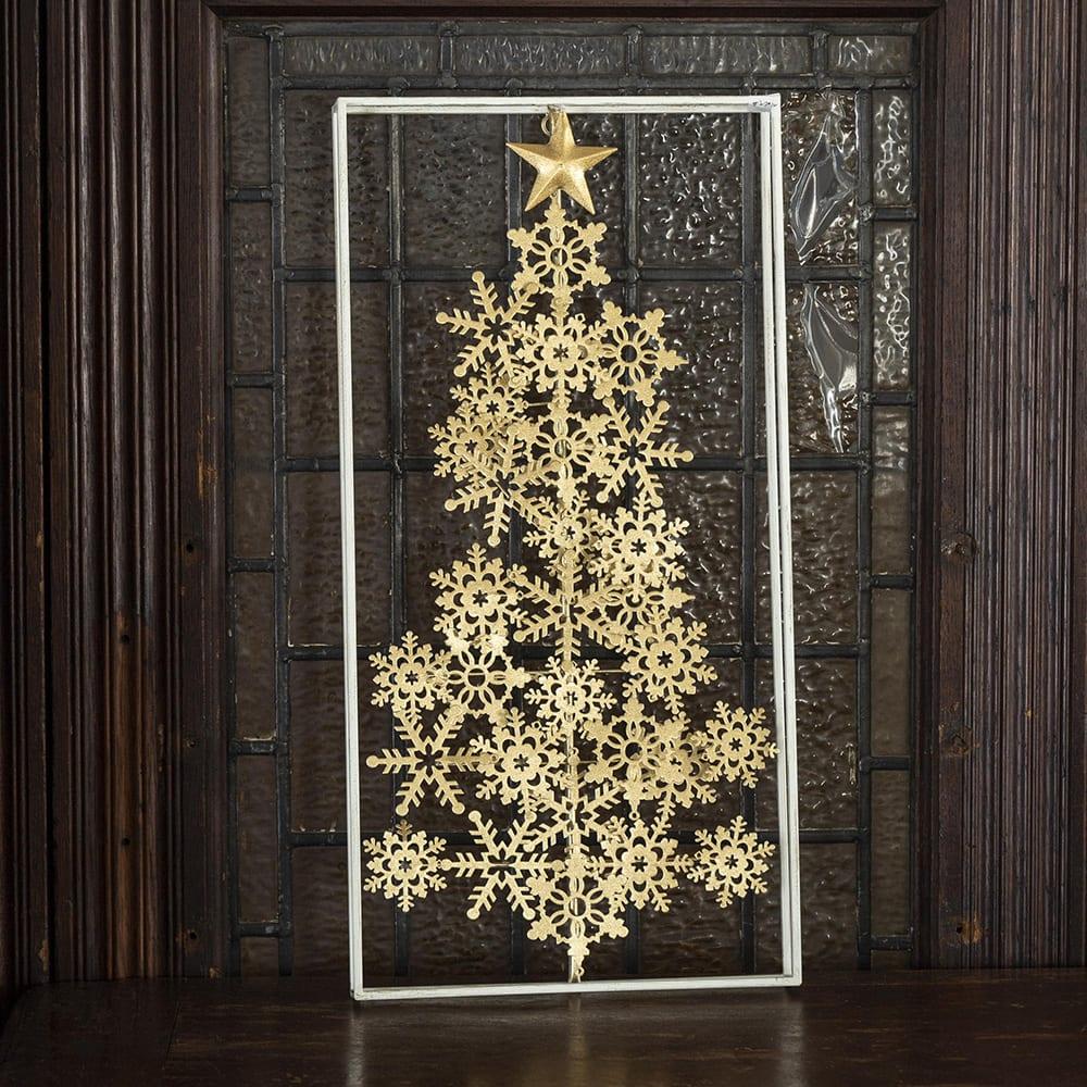 インテリア雑貨 日用品 年中行事用品 季節商品 クリスマスツリー 飾り オーナメント パネルスノークリスタルツリー FL7611
