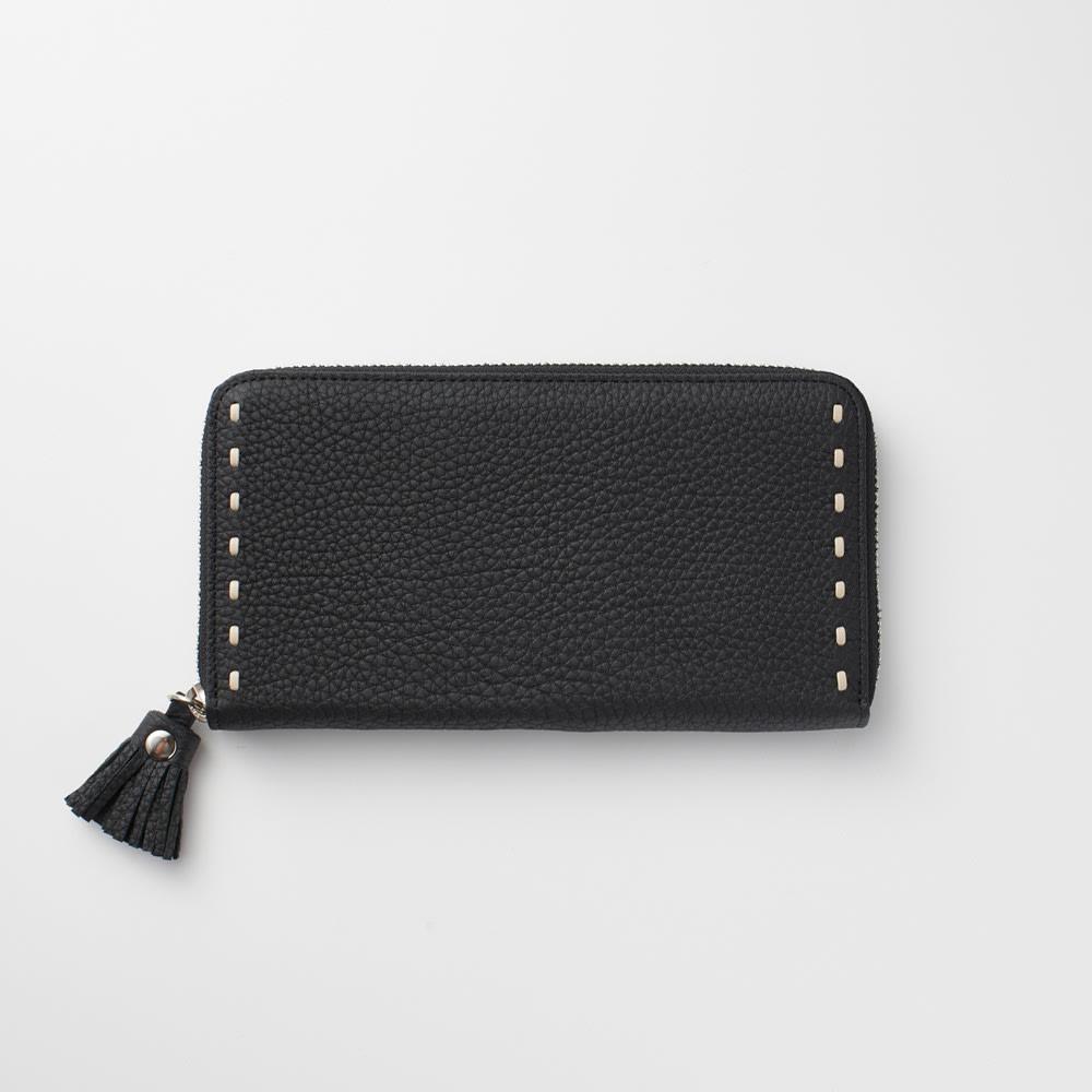 NAGATANI/ナガタニ エスポワールラウンド長財布 (イ)ブラック