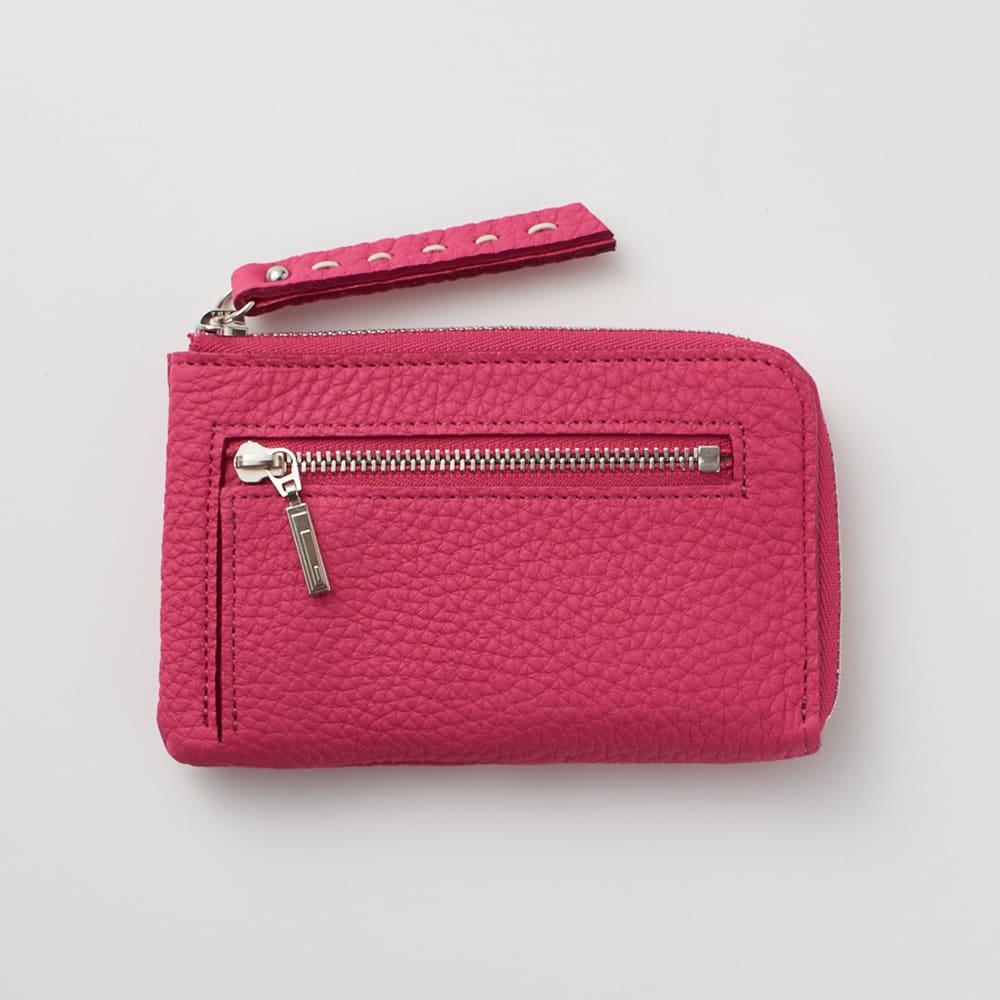 NAGATANI/ナガタニ エスポワールL字コンパクト財布 (ア)ロイヤルピンク  ファスナーポケットにはICカードも収納可!