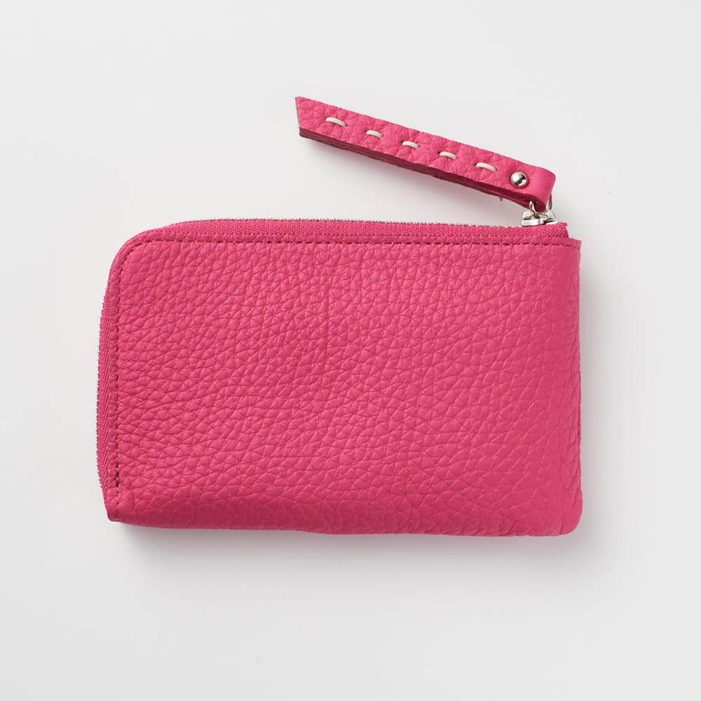 NAGATANI/ナガタニ エスポワールL字コンパクト財布 (ア)ロイヤルピンク Back  背面はシンプルなデザインです。