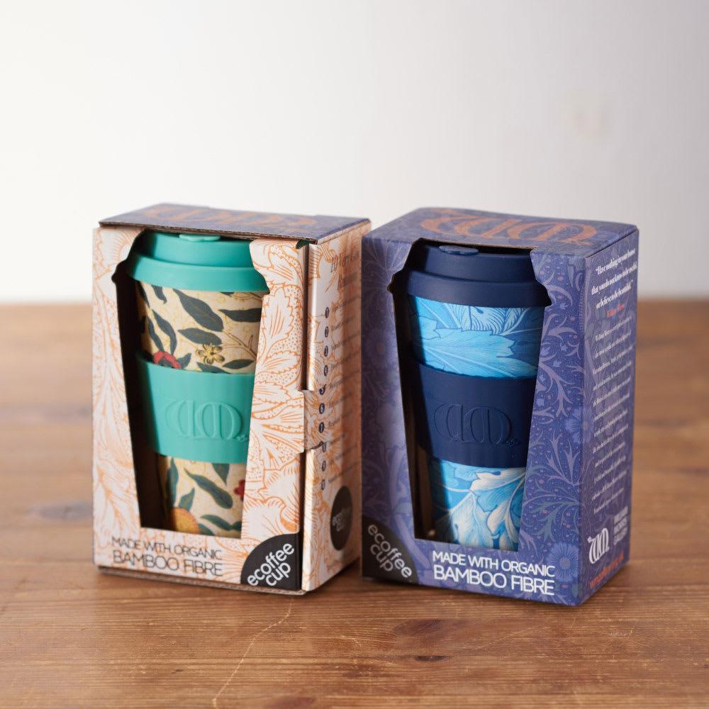 Ecoffee Cup/エコーヒーカップ 容量400ml ウィリアム・モリス柄 1個 かわいいパッケージにいれてお届け。パッケージは表面と裏面になります。パッケージはすべて共通。左(カ)Pomme、右(キ)Acanthus