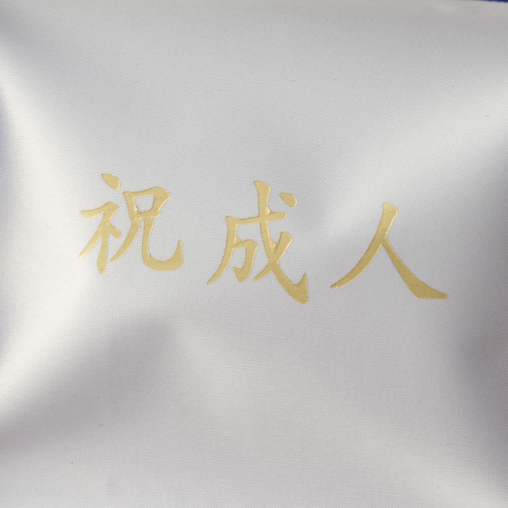 【ネームオーダー】お祝い印鑑 黒水牛2本セット(実印・銀行印) ケース内側にメッセージをプリントします。「祝成人」「祝就職」「祝結婚」「御祝い」「プリントなし」からお選び下さい。写真は「祝成人」。