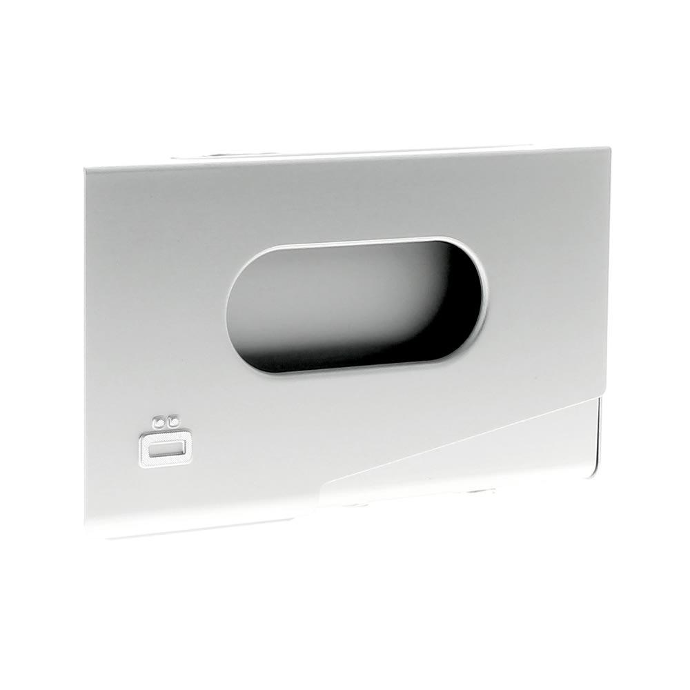 OGON/オゴン アルミ ワンタッチ カードケース (ウ)シルバー