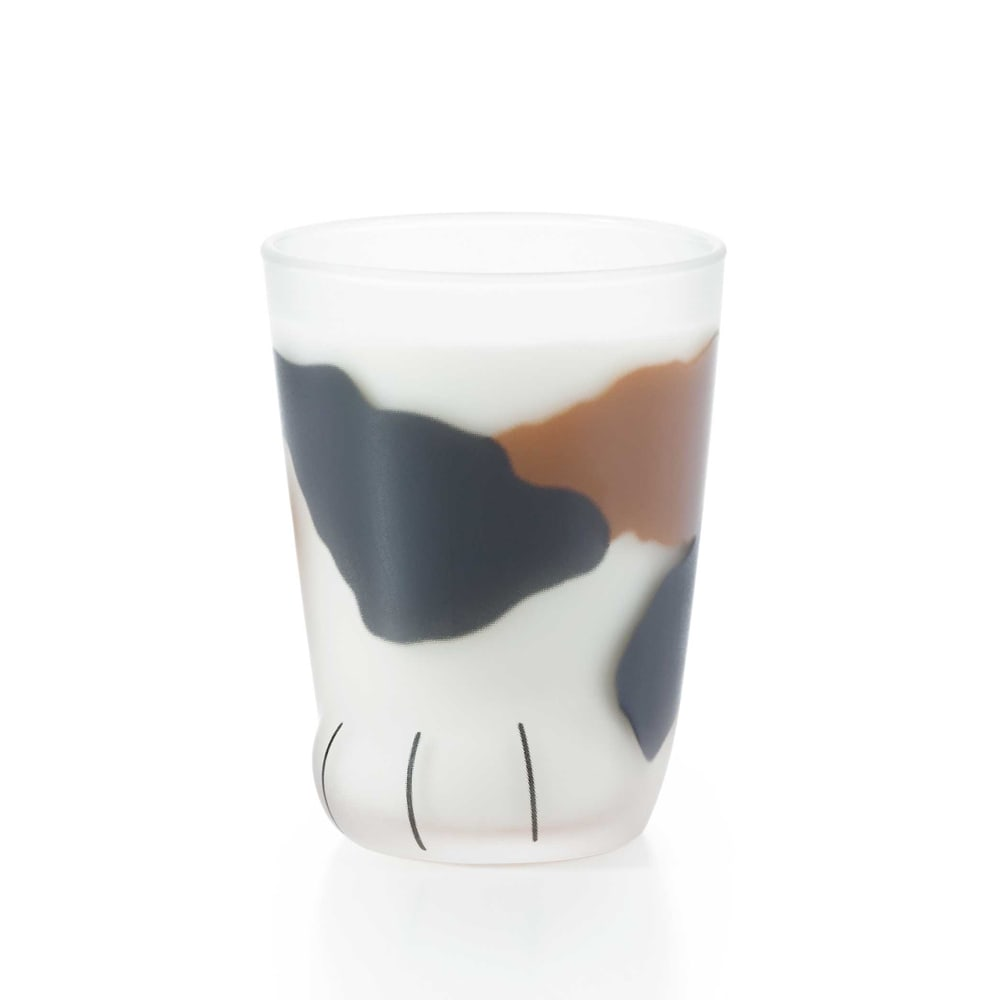coconecoグラス(子猫) (ア)ミケ ※牛乳を入れたイメージ