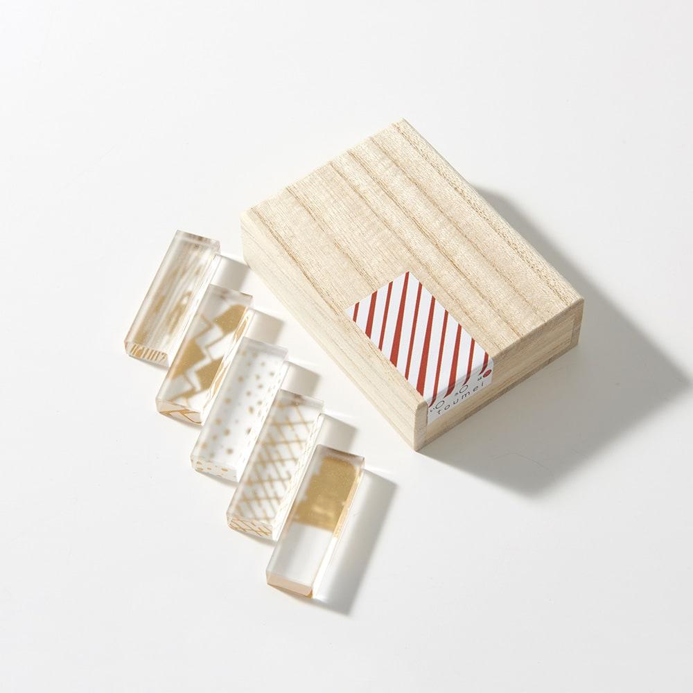 TOUMEI 箸置きセット 箔 (ウ)は ※パッケージのシールデザインは変更になる場合がございます