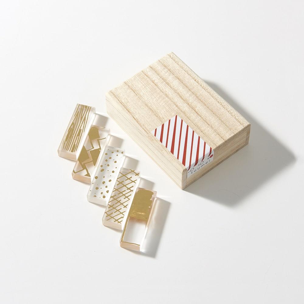 TOUMEI 箸置きセット 箔 (ウ)は ※裏面 ※パッケージのシールデザインは変更になる場合がございます