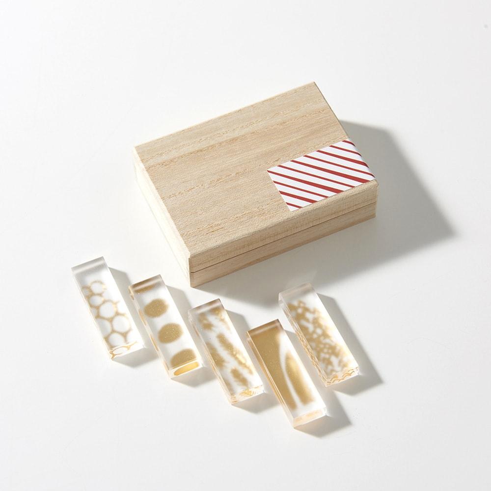 TOUMEI 箸置きセット 箔 (ア)い  ※パッケージのシールデザインは変更になる場合がございます