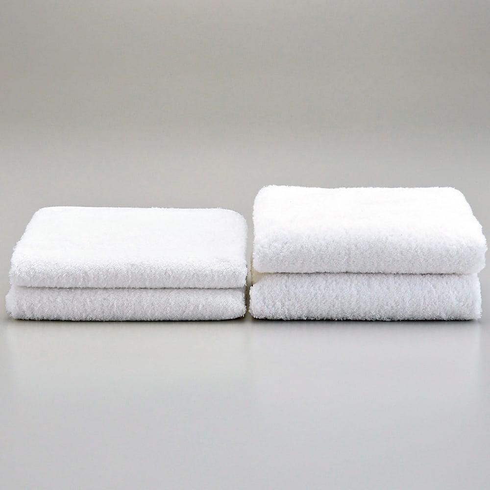 潤いのタオルフェイス3枚ギフトセット   洗濯後の方がこんなにふっくら!左:洗濯前、右:3回洗濯後