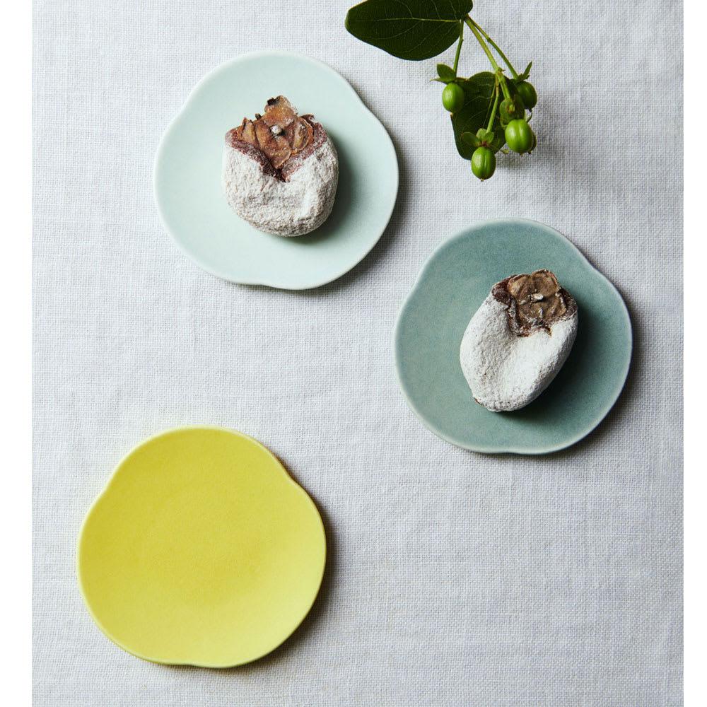 Teshio 三つ雲 2枚組ギフト(黄色×水色) 【使用例】 ※水色と黄色のセットです。濃い水色は商品ではありません。