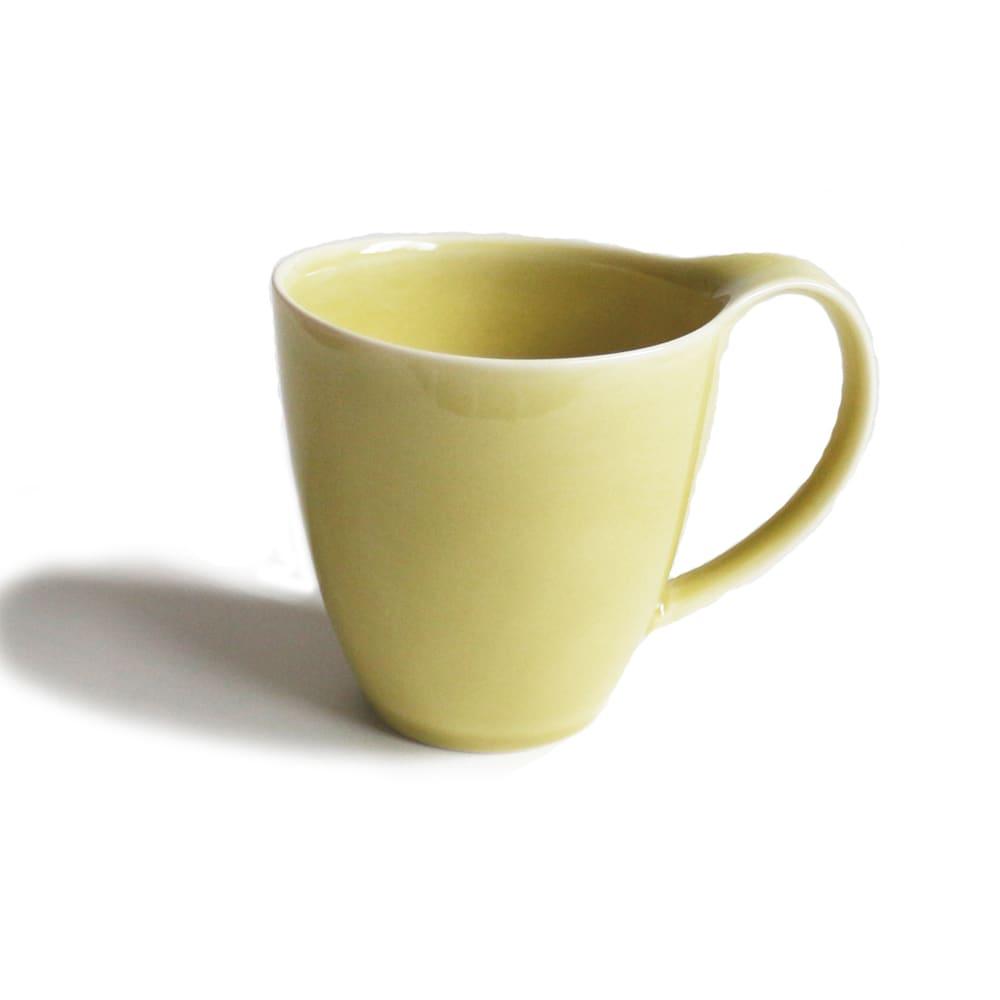 ポトペリー ヴォーグ ペア マグカップ(Yellow×Green) イエロー