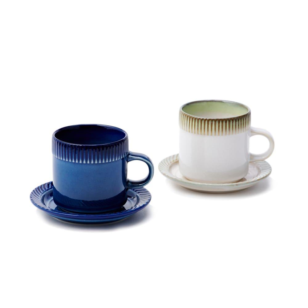 ポトペリー blur ペア デミタス コーヒーカップ&ソーサー