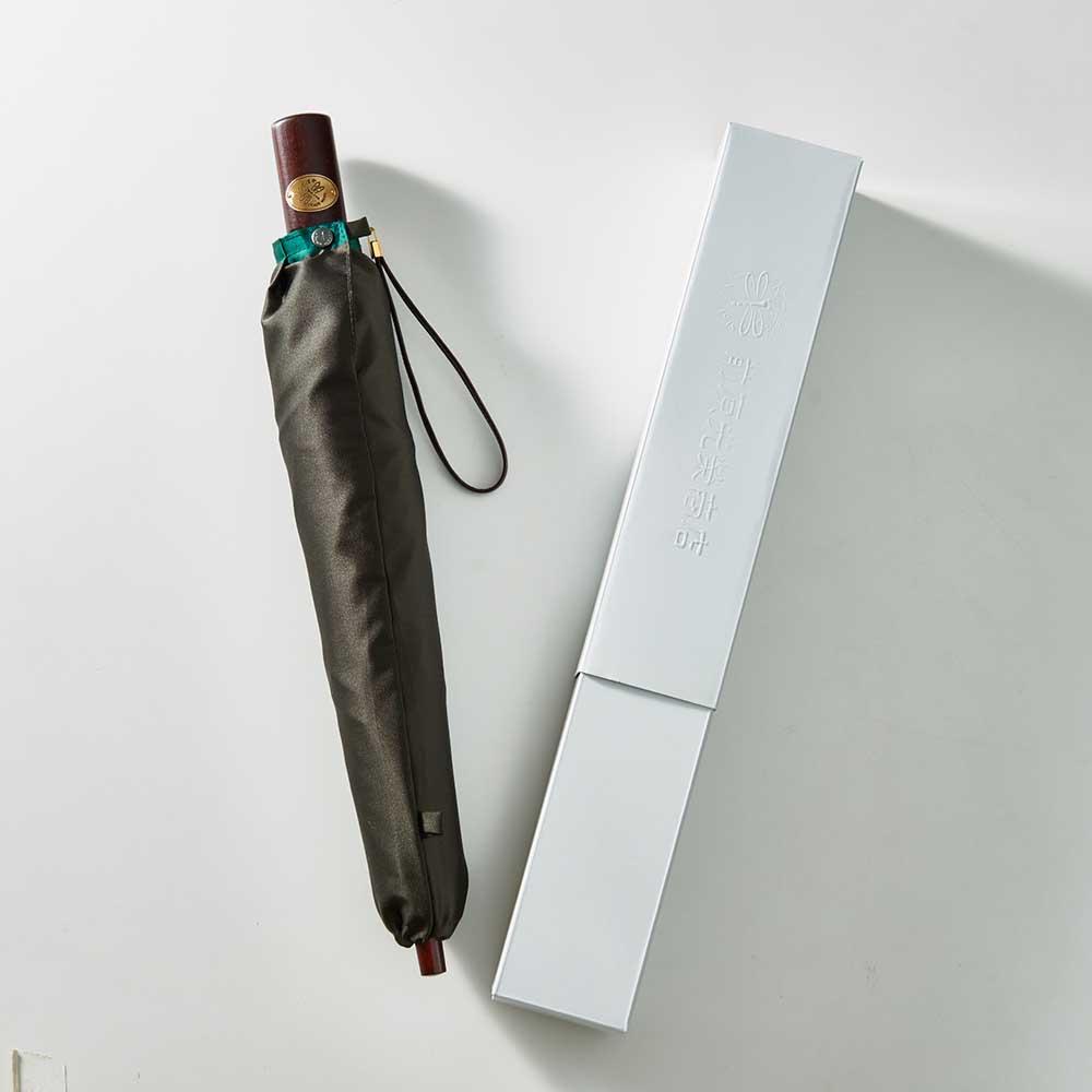 前原光榮商店 バイカラー 折りたたみ傘 化粧箱に入れてお届けします