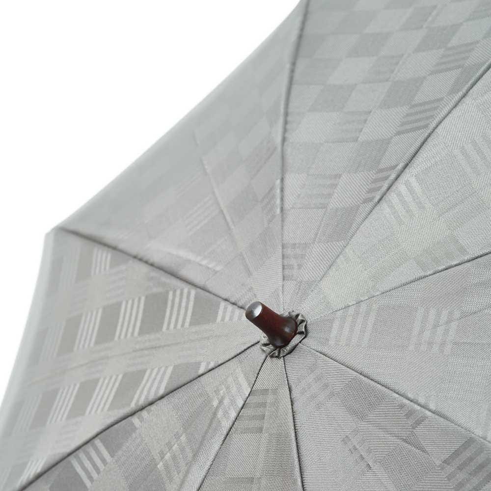 前原光榮商店 幾何学柄 折りたたみ傘 (ア)グレー