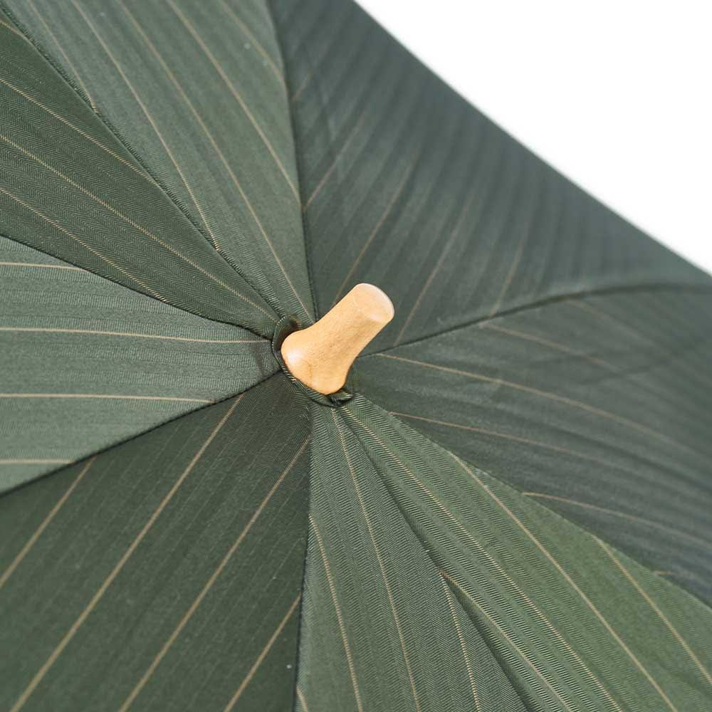 前原光榮商店 ストライプ柄 折りたたみ傘 (イ)カーキ