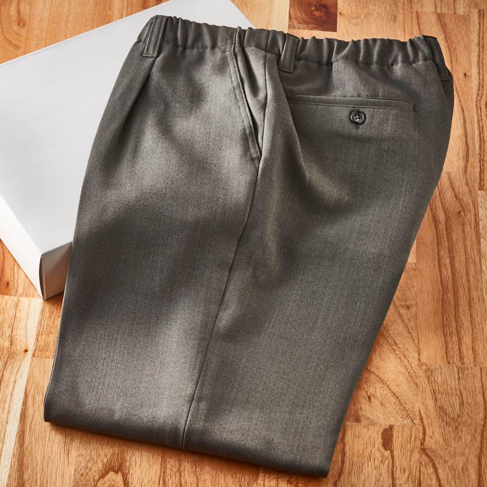 カインドケア/腰総ゴムくつろ着スラックス 紳士用 白い化粧箱に入れてお届けします。