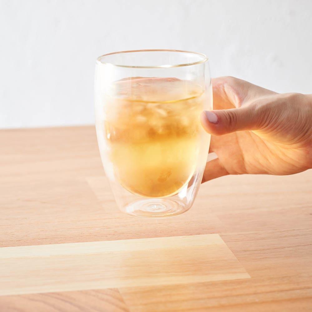 ボダム PAVINAダブルウォールグラス350ml(2個セット) グラスに水滴がつかないから時間がたってもテーブルを汚しません