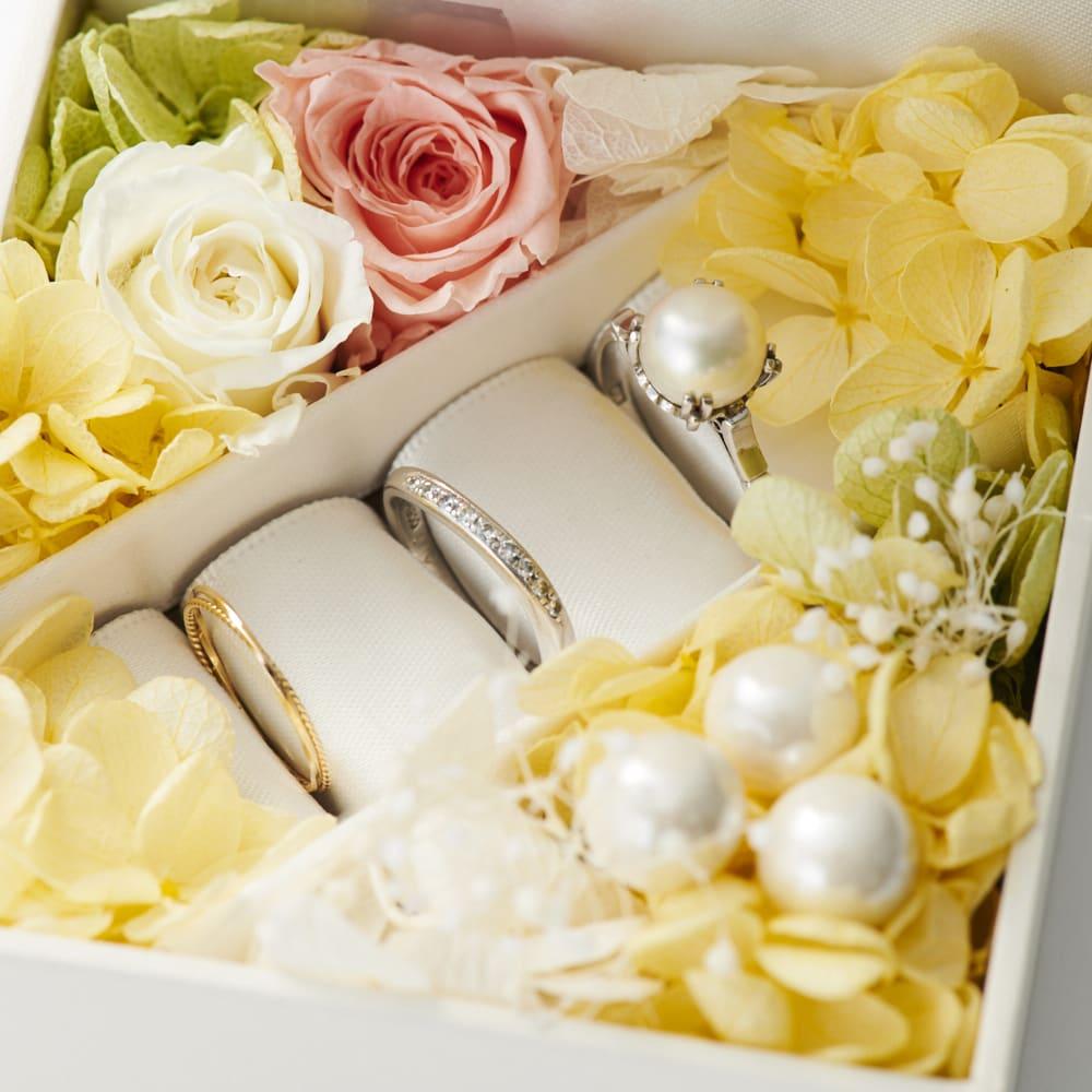 【ネームオーダー】お祝い印鑑 ブライダル オランダ水牛(銀行印) BOXはリングやピアスなどジュエリー収納としても使えます。