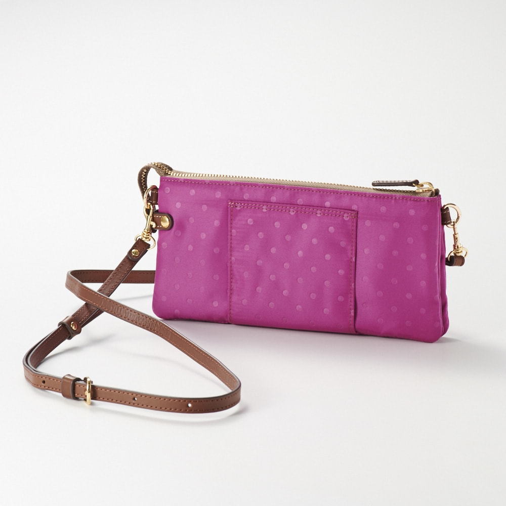 FRAME WORK お財布ポシェット Back 背面にはベルトループ付きでベルトを通してウエストポーチとしても使えます