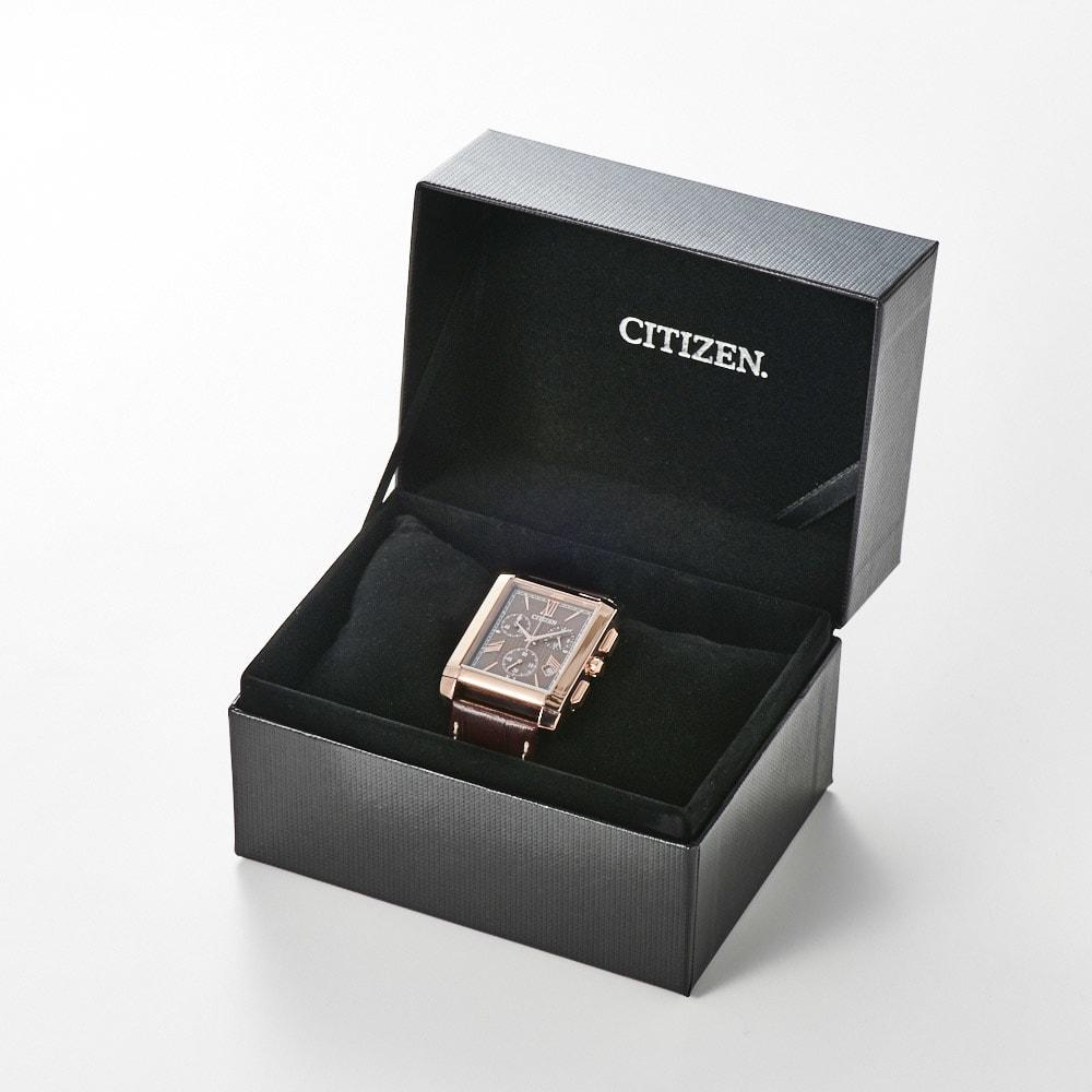 CITIZEN/シチズン 【メンズ】 エコ・ドライブ腕時計 AT0568-08X スクエア   専用ケース入り