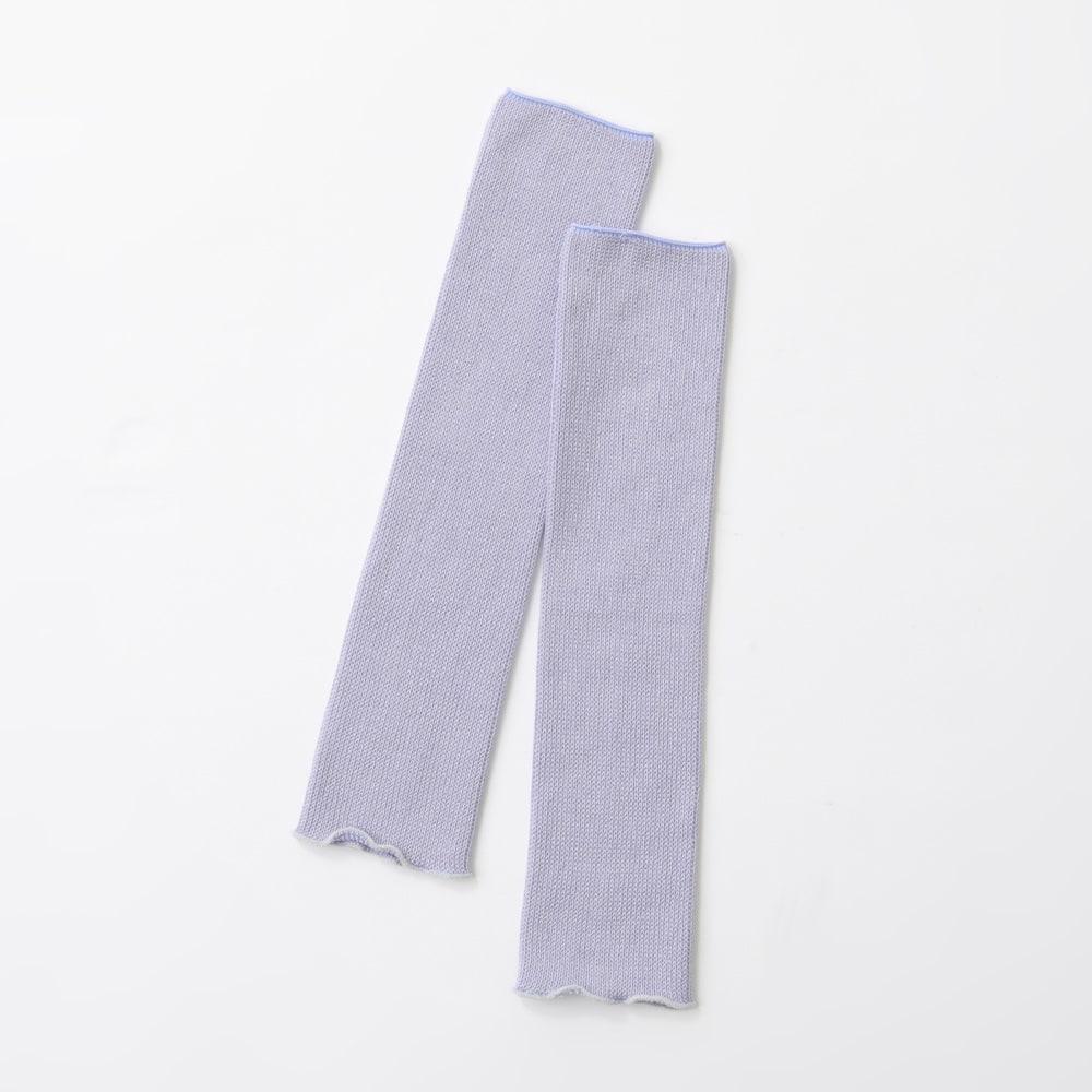 カインドケア/シルク混ゆったりレッグウォーマー色違い2色組 モーブ