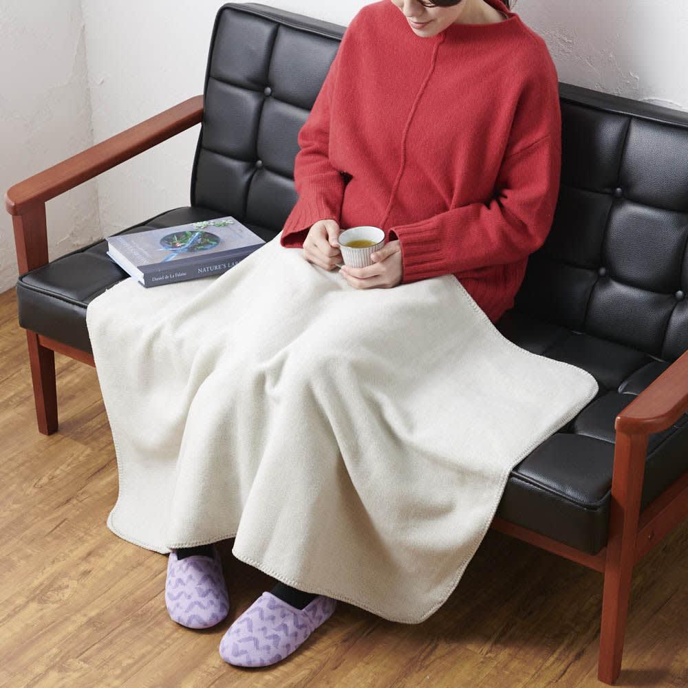 IYASHI-YA 綿100%マザータッチ膝掛けクォーターケット ギフト箱入 (イ)ライトグレー