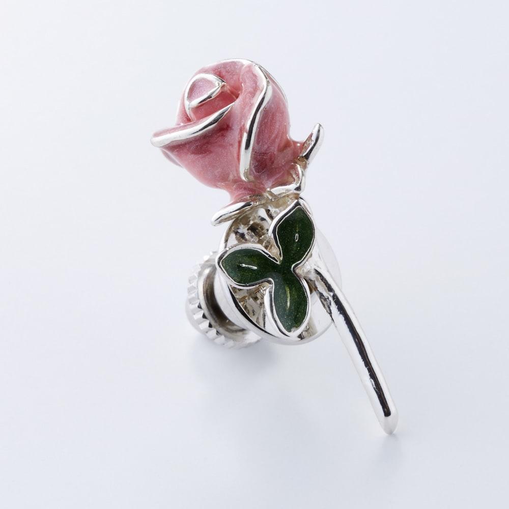 サツルノ バラピンブローチ(イタリア製) (イ)ピンク