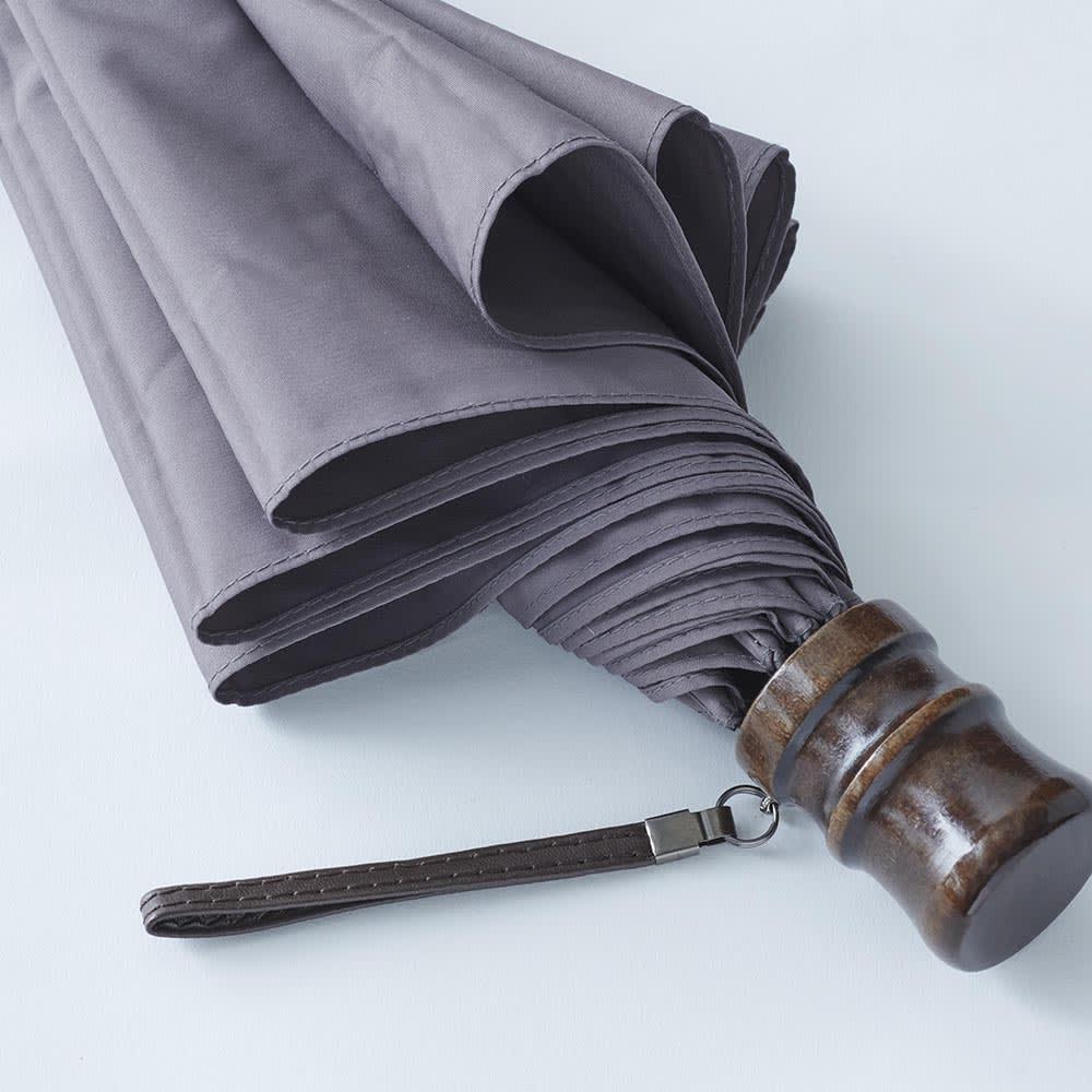 [メンズ]小宮商店ミラトーレ折畳み傘(名入れ有) (ウ)グレー ※少し赤身のあるグレー色