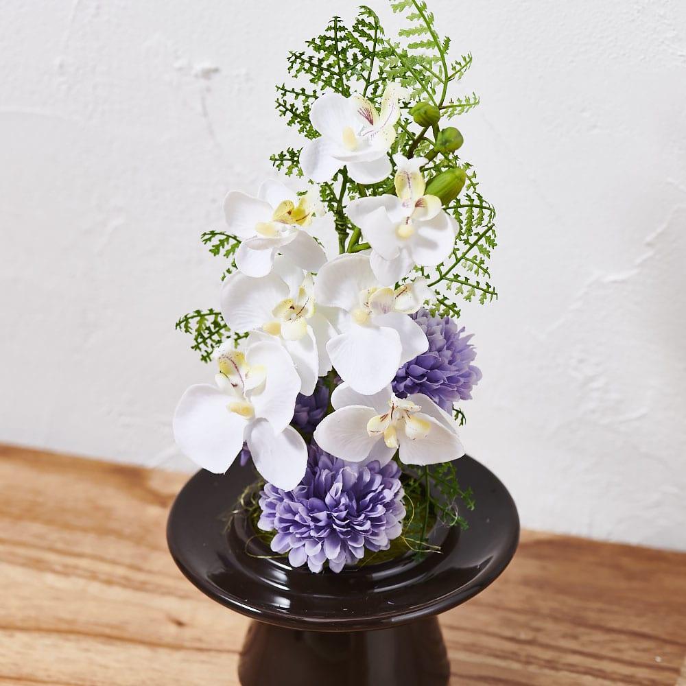 ガラスドームの供花胡蝶蘭         (ア)ホワイト