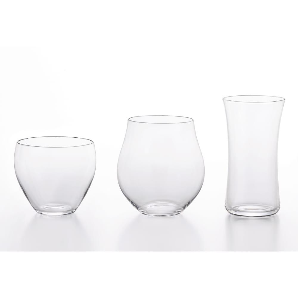 クラフト酒グラス 三種揃 シンプルなグラスなのでお酒以外でお茶やジュース使いでもOK