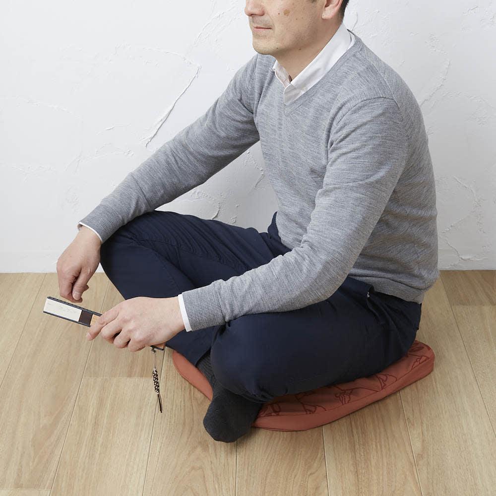 藤井聡太自筆詰将棋柄バッグ付ムアツクッション 座布団として幅広い場所で使えます。