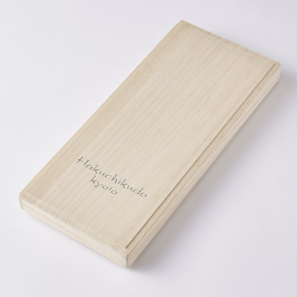[メンズ]白竹堂 オルタネイト扇子 木箱入り 木箱入り