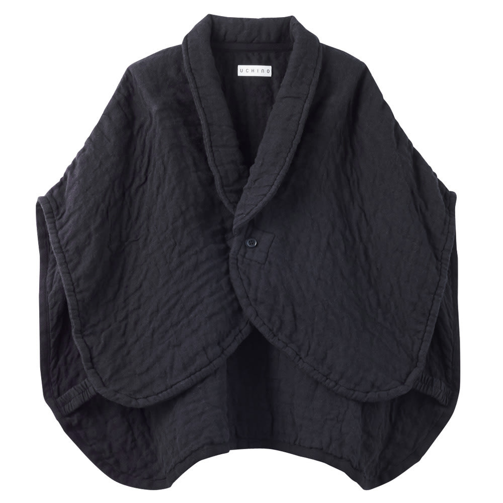 UCHINO/内野 マシュマロワッフルガーゼのおやすみ肩当て 男女兼用 (ウ)ブラック