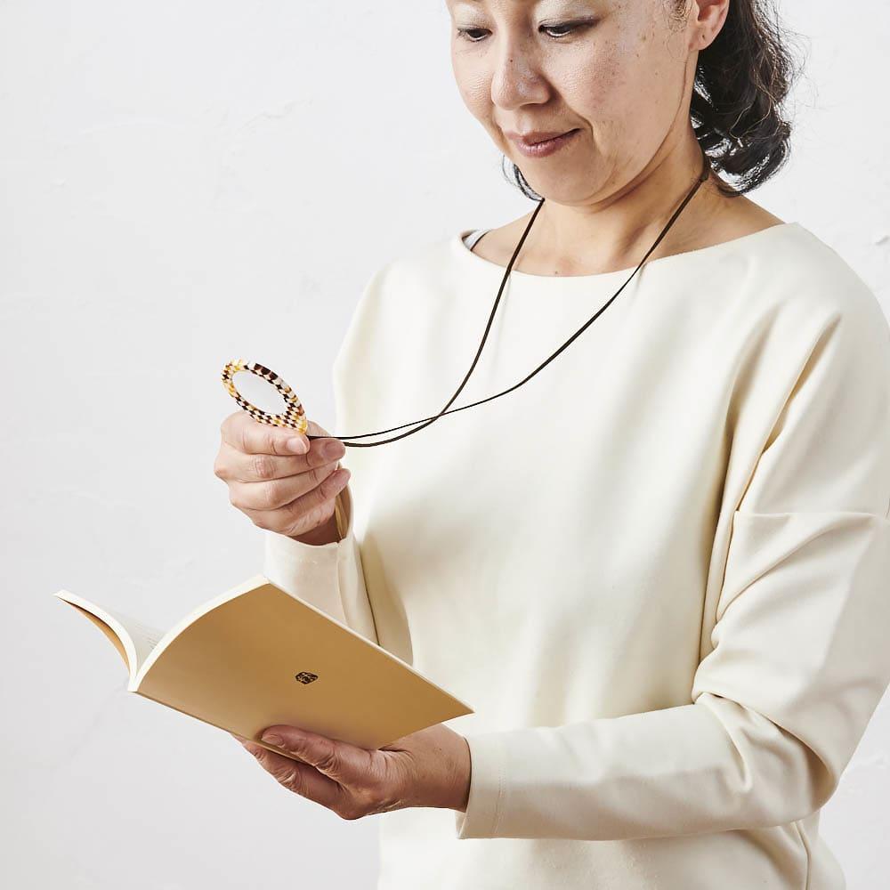 KISSO/キッソオ ペンダントルーペ 普段はネックレスにして胸元をおしゃれに、さっと使えて便利♪