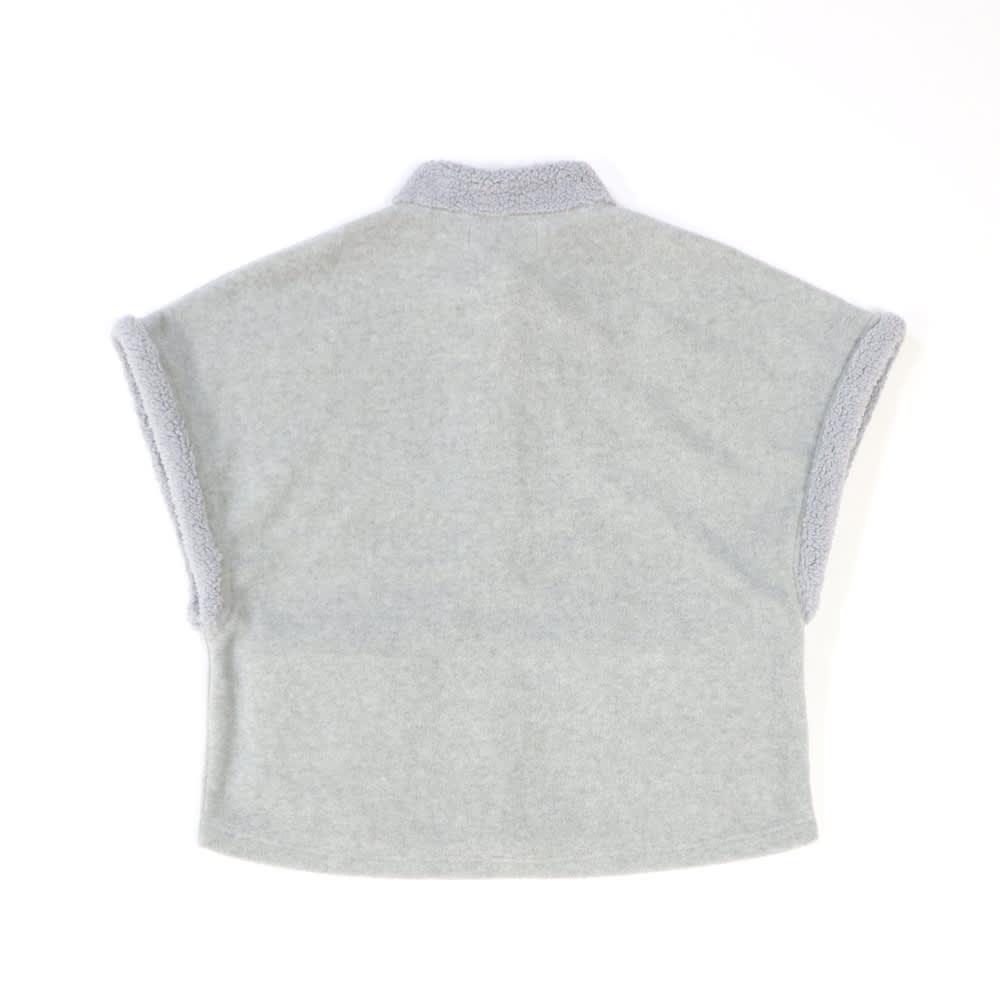 カインドケア/【婦人用】 フリースベスト ギフト箱入(日本製) Back Style (イ)チャコールグレー